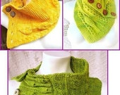 Direct Download, Three Friends, three Cowls PDF Knitting Pattern Collection