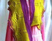 Direct Download --Vaire Shawlette PDF knitting pattern, four sizes
