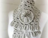 Direct Download PDF pattern crochet Grey cowl scarf stole