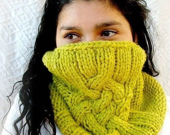 Direct Download Gorgeous cabled cowl PDF knitting pattern