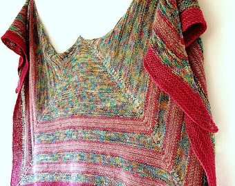 Direct Download PDF Knitting Pattern shawl