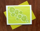 Handmade Letterpress Beat Card