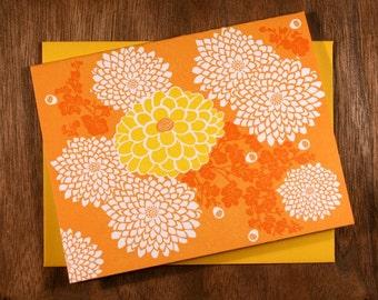 Handmade Sunlit Letterpress Card
