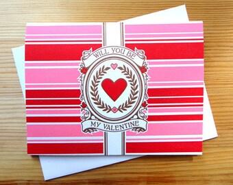 Handmade Letterpress My Valentine