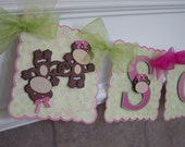 Monkey Birthday / Name Banner
