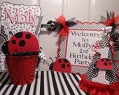 Ladybug Birthday-Deluxe 1st Birthday Party Package