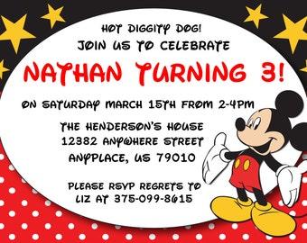 Mickey Mouse- Invitations birthday  (15) invites 1st birthday party