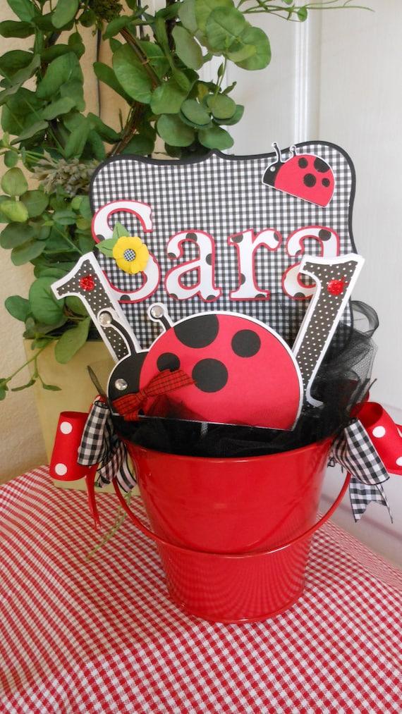 Ladybug Birthday Centerpiece
