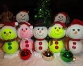 Christmas Tennis Budeez Snowmen
