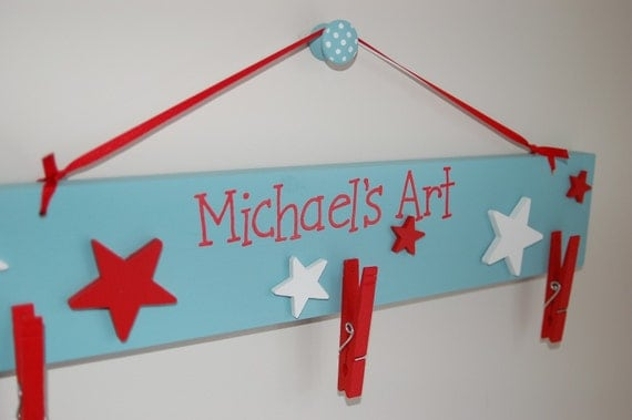Personalized Wooden Art Hanger-Small Size