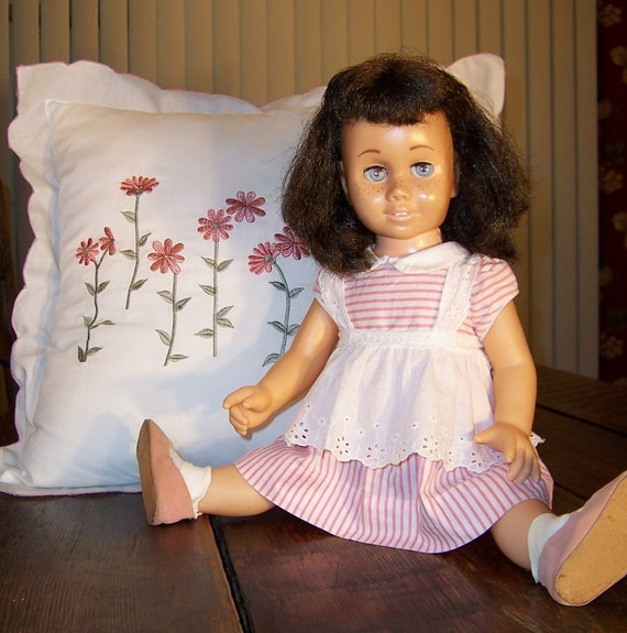 Doll, Chatty Cathy Doll, Mattel Doll,- Brunette  Number 3 Chatty Cathy  by passingtimeandchimes on Etsy