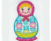 Matryoshka-Russian Doll Machine Applique Embroidery Design