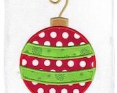 Christmas Ornament Machine Embroidery Applique Design
