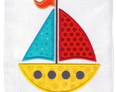 Sailboat Machine Embroidery Applique