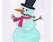 Snowman Machine Embroidery Applique Design