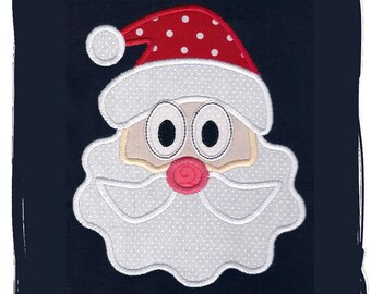 Santa Claus Machine Embroidery Applique