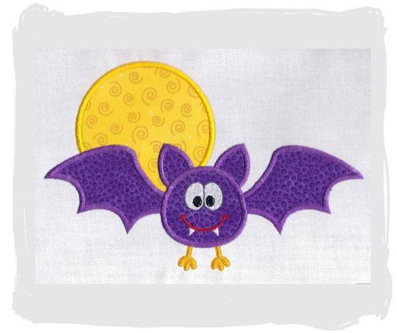 Bat Machine Embroidery Applique design...2 sizes