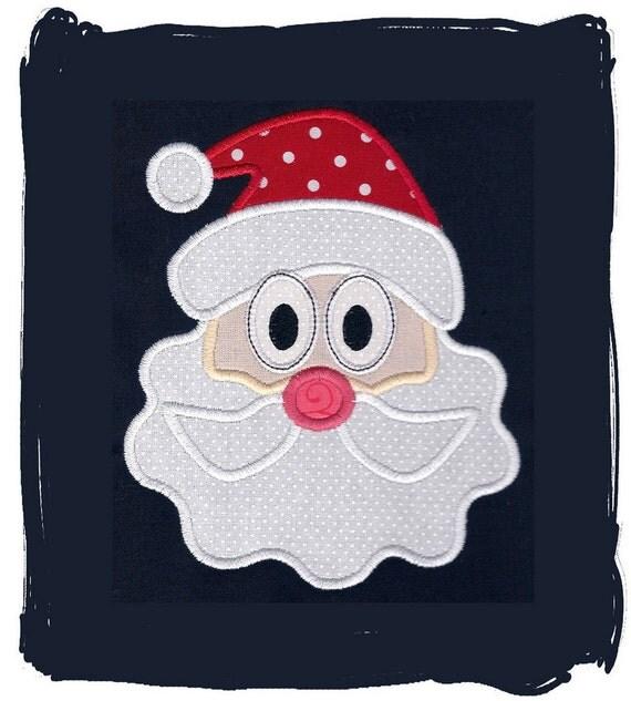 Items similar to santa claus machine embroidery applique