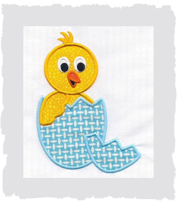 Easter Baby Chick Machine Embroidery Applique...4 sizes