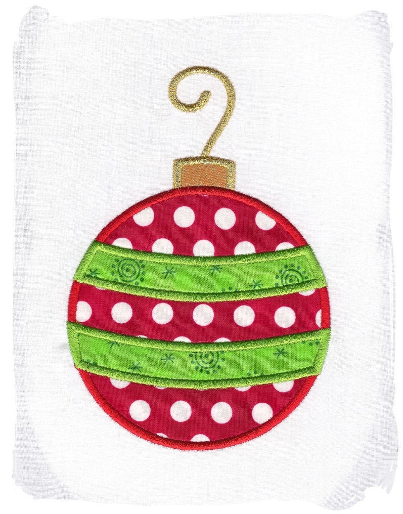 Christmas Ornament Machine Embroidery by pinkfrogcreations ...