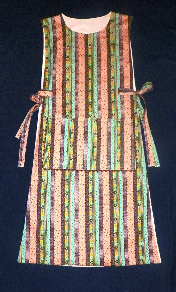 Extra Long Stripes Polka Dots and Flowers Cobbler Apron
