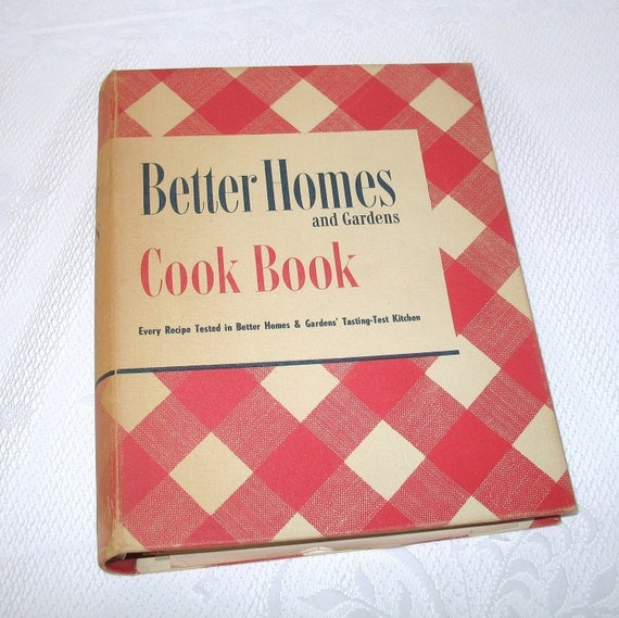 1950 39 S Better Homes And Gardens Cook Book Vintage Red