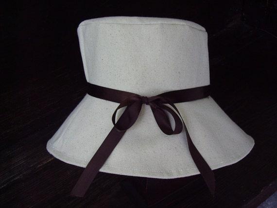 Ivory Canvas Sun Hat