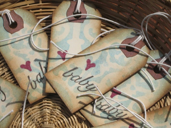 12 Baby Boy Shower Gift Tags - Made to Order