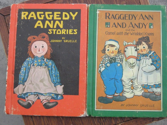 Vintage Book Raggedy Ann Andy Children Illustrated By