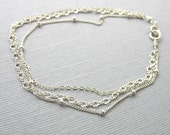 Triple Layered Dainty Chains Sterling Silver Bracelet