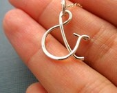 Sterling Silver Ampersand Charm - Pendant Only
