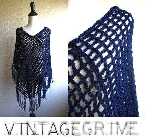 frolic two - navy blue knitted cape