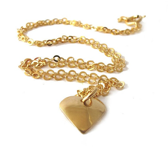 Gold Heart necklace, SMALL ,Tiny heart, 14K Gold filled, Small heart necklace
