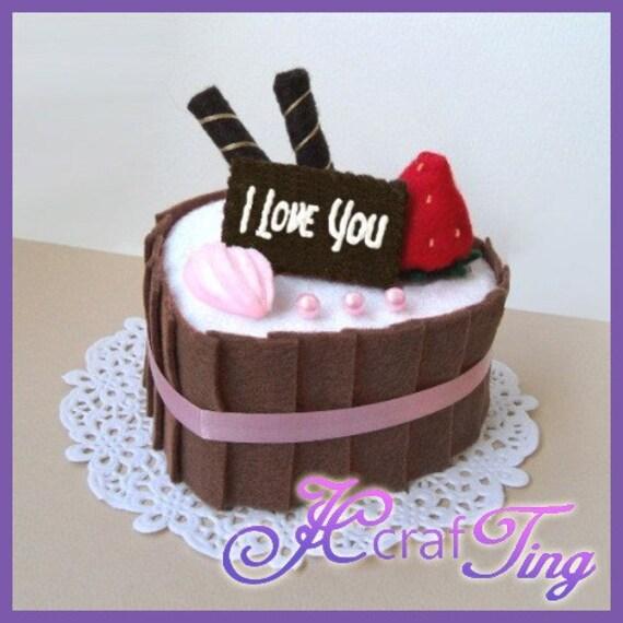 Heart-Shaped Strawberry Chocolate Cake PDF Pattern Style 4