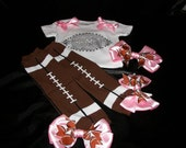 Pink BLING Football Onesie/Shirt and Leg Warmers Set--Can be Customized