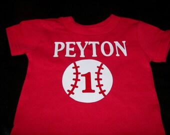 Boys Baseball Shirt, Baseball Shirt, 1st Birthday Shirt, Baseball Tee, Lil Brother Shirt, Big Brother Shirt, Personalized Shirt, Brother Tee