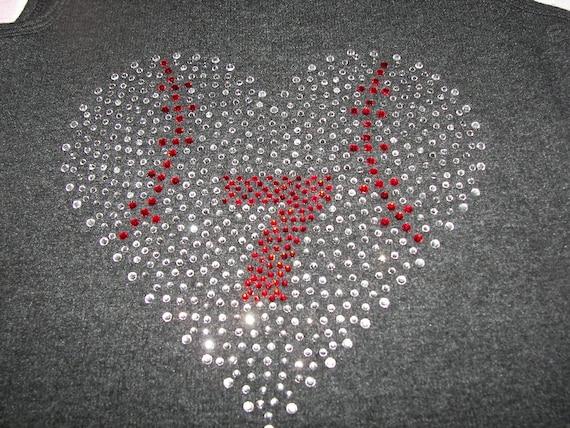 Ladies Bling Baseball Heart Tank or Shirt,  Baseball Heart Shirt, Baseball Heart Tank, Bling Baseball Shirt, Baseball Shirt, Baseball Mom