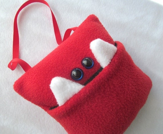 Tooth Fairy Pillow Monster - Red