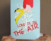 Love is in the air digital print