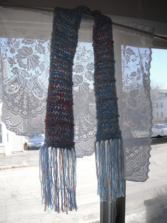 Cotton Candy Knit Scarf / Hand Knit Scarf /  Teens Scarf / Accessories / Girls Scarf