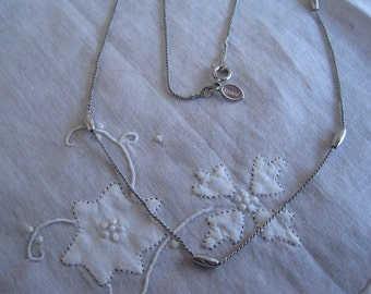 Vintage Avon Silver Tone Beaded Necklace