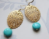 Earrings Vintage Polly Turquoise