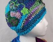 Freeform Crochet Hat - Crochet Hat - Teal
