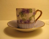 Delightful Very Old Espresso Demitasse Cup and Saucer