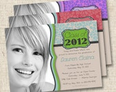 Sophisticated Grad Custom Graduation Photo Announcement or Invitation - or any occasion