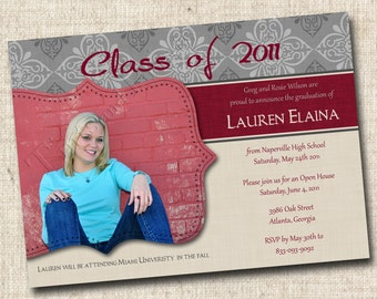 Fabulous Grad Custom Graduation Photo Announcement or Invitation - or any occasion