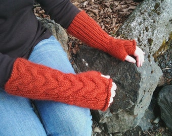 Bella Fingerless Gloves in Copper
