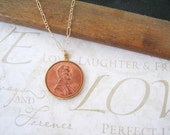 CLAIRE lucky penny necklace (gold)