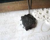 sale SALE sale le SOLEIL vintage hemitite sun pendant necklace (antiqued silver)