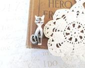 Mrs. KITTY vintage enamel cat pin